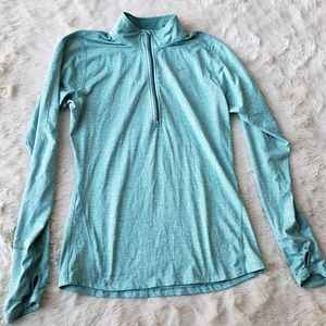 Womens Nike running element L/S 1/4 zip Small teal